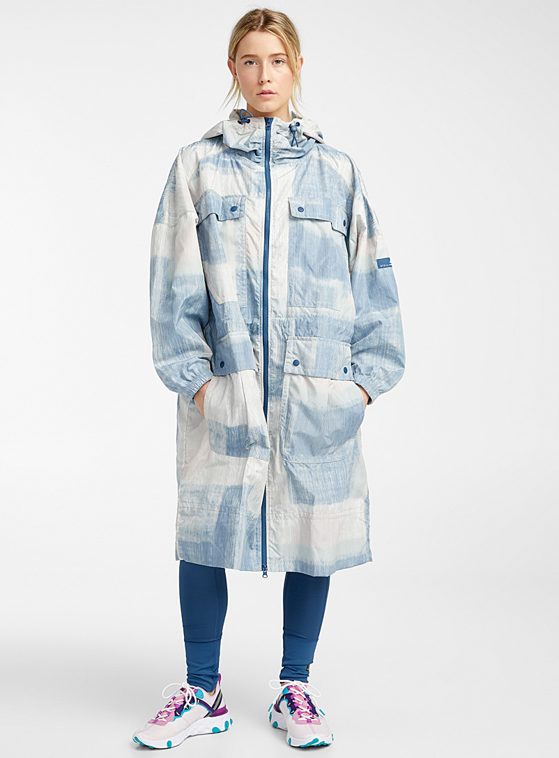 Adidas Stella McCartney Patterned Blue Recycled polyester pastel parka for women