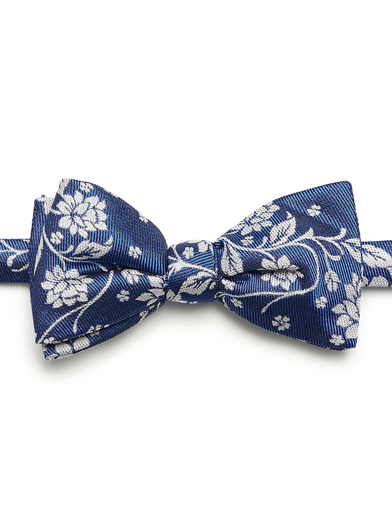 Royal floral bow tie - Bow Ties - Sapphire Blue