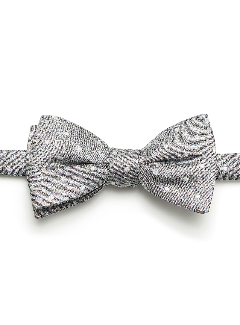 Dotted heather bow tie - Bow Ties - Charcoal