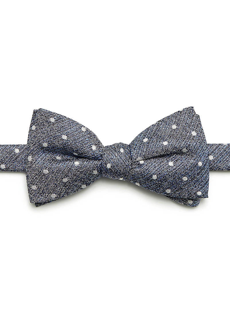 Dotted heather bow tie - Bow Ties - Dark Blue