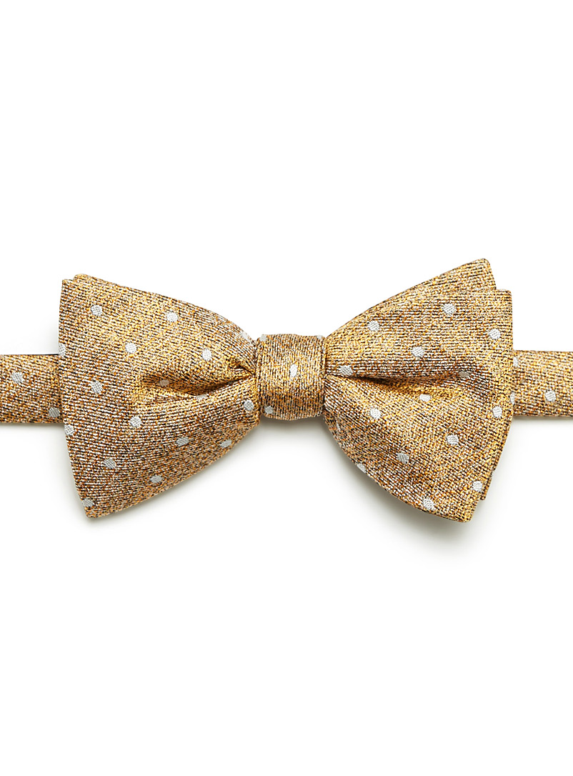 Dotted heather bow tie - Bow Ties - Medium Yellow