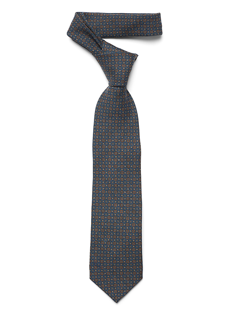 Circle mosaic tie - Regular Ties - Marine Blue