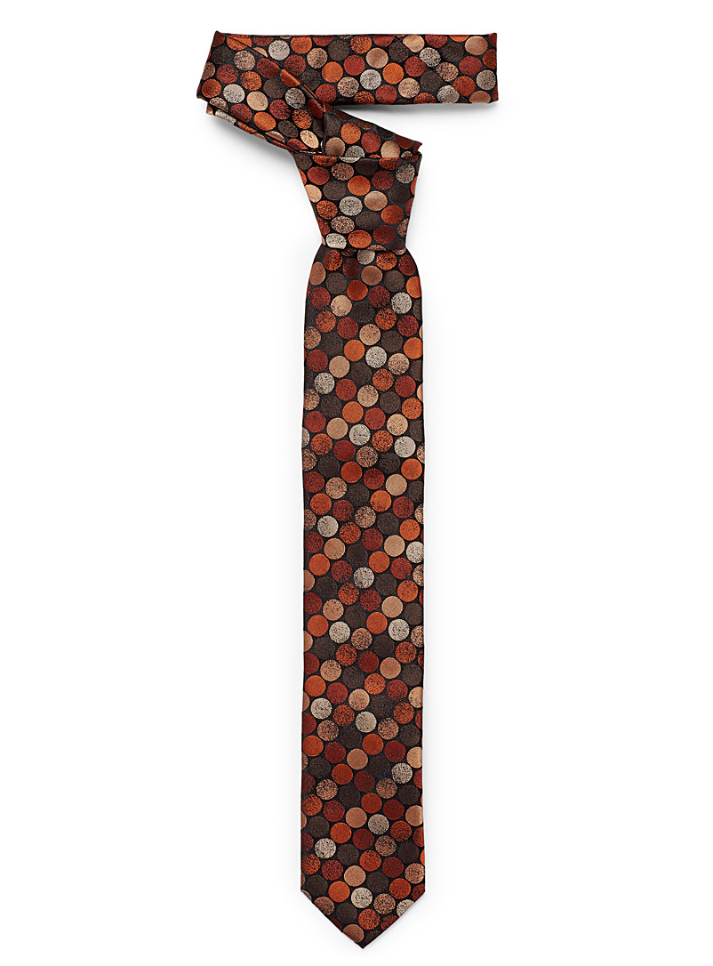 Shaded disc tie - Skinny Ties - Orange