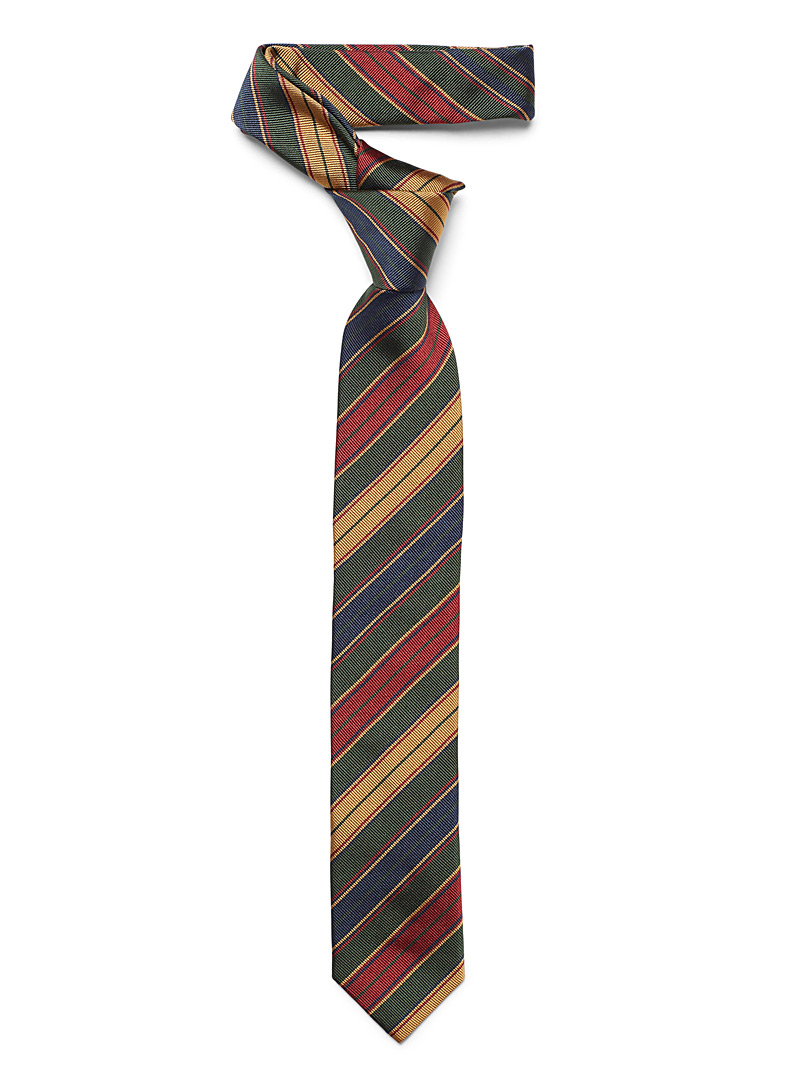 Preppy striped tie - Skinny Ties - Assorted