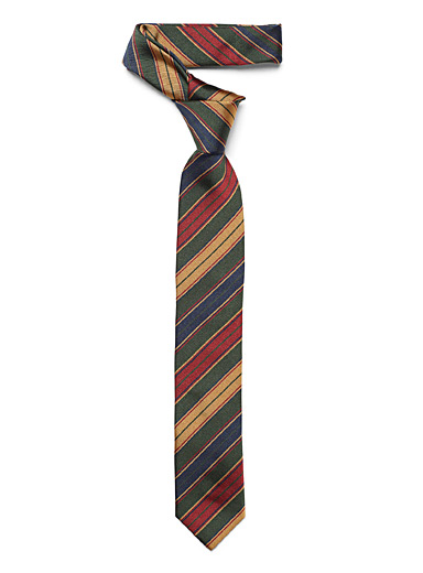 Preppy striped tie