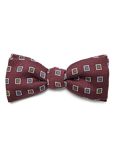 Colourful square bow tie