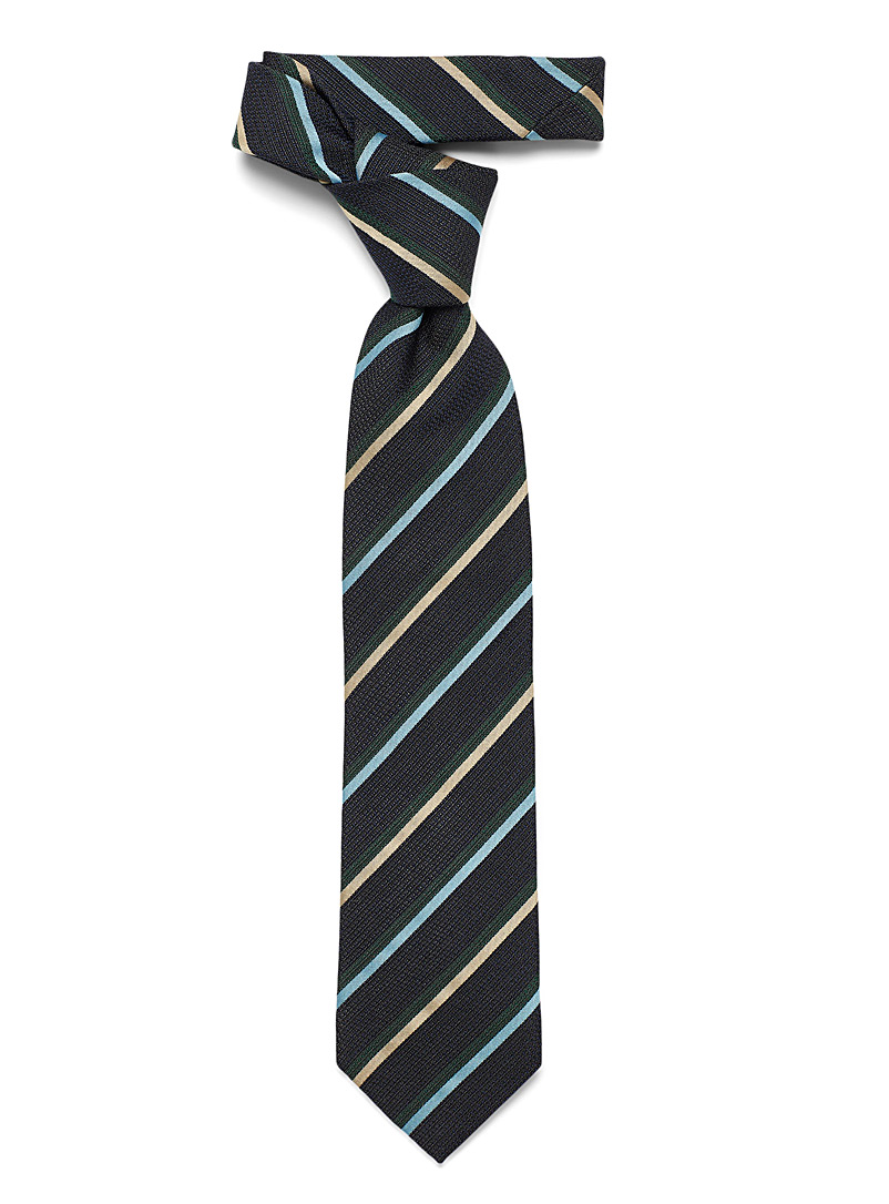 Two-tone stripe tie