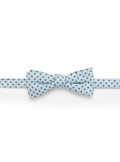 Traced dot pastel bow tie