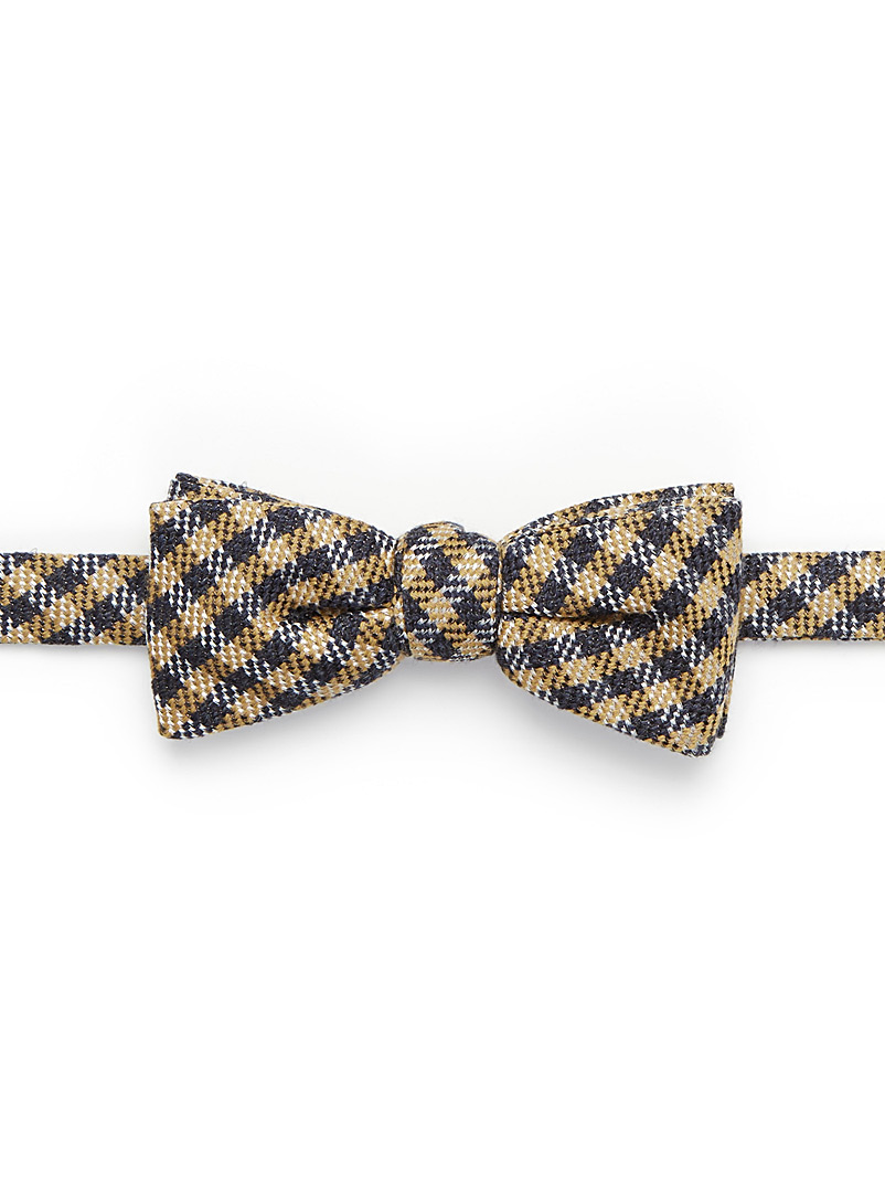 Check bow tie - Bow Ties - Light Brown