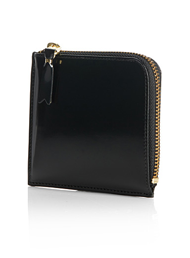 Shiny black slimline wallet