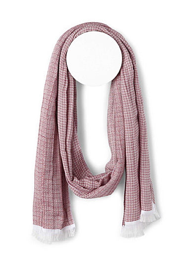 Optical check and houndstooth scarf