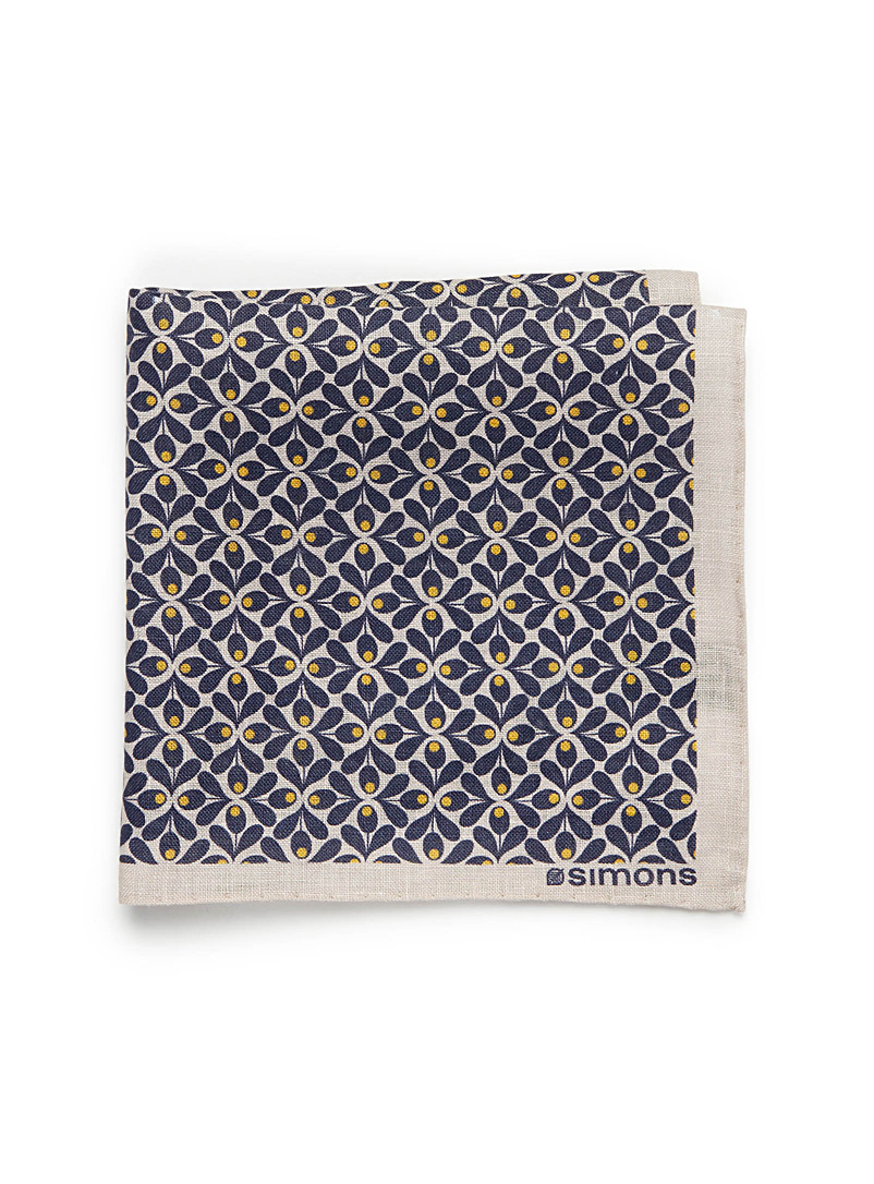 Retro floral pocket square - Pocket Squares & Scarves - Blue