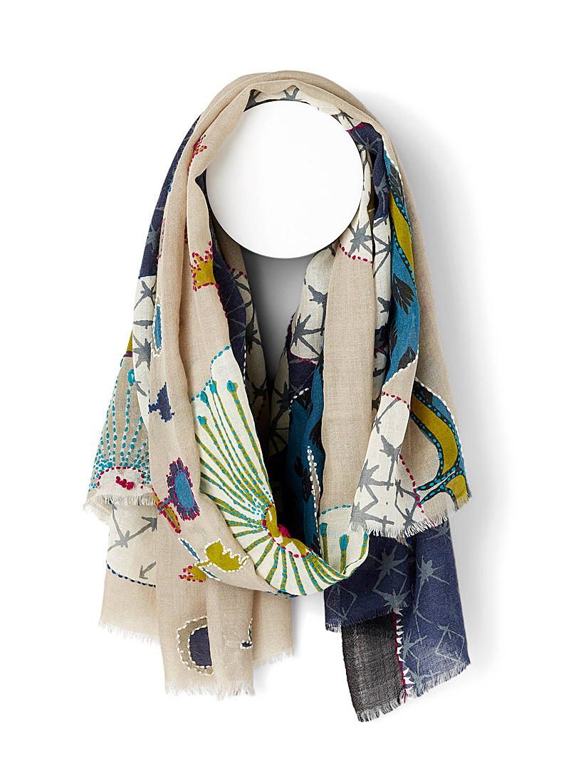 Storiatipic Assorted blue Aube scarf for women
