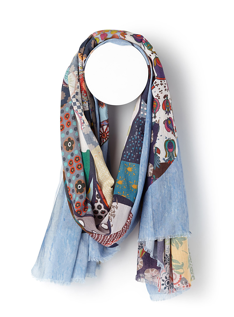 Borée scarf - Light scarves - Patterned Blue