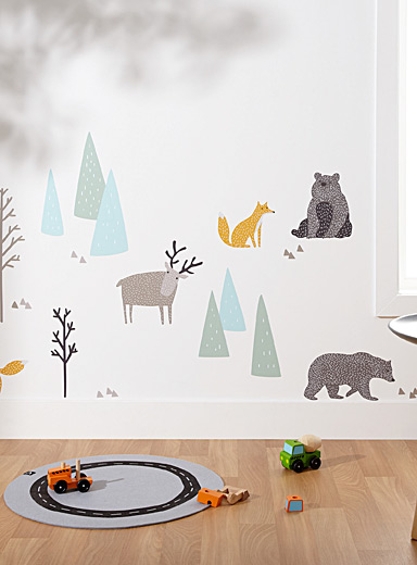 A walk in the woods wall stickers