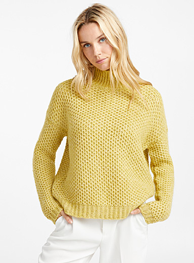 Le pull tricot nid d'abeilles Suzanny