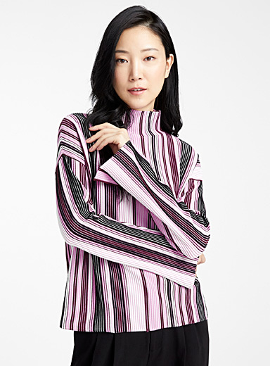 HUGO Patterned Crimson Stormi amethyst striped sweater for women