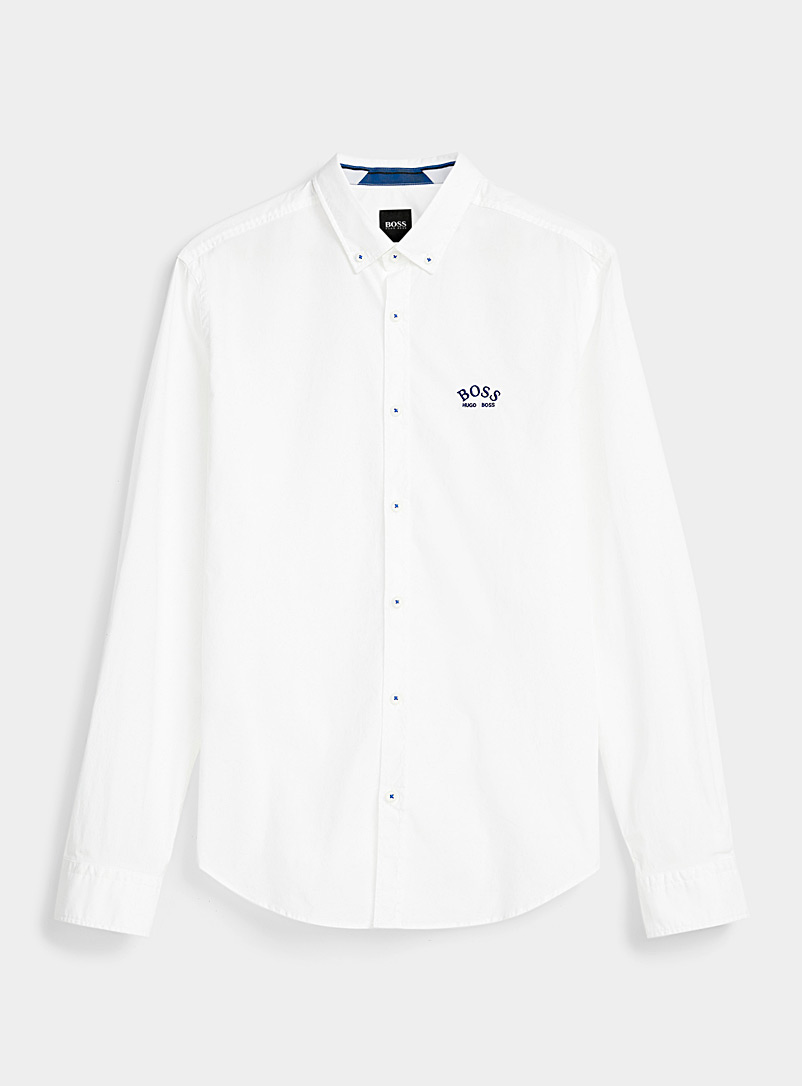 BOSS White Performance shirt  Regular fit for men