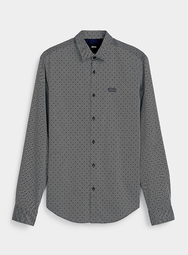 Optical dot shirt  Slim fit