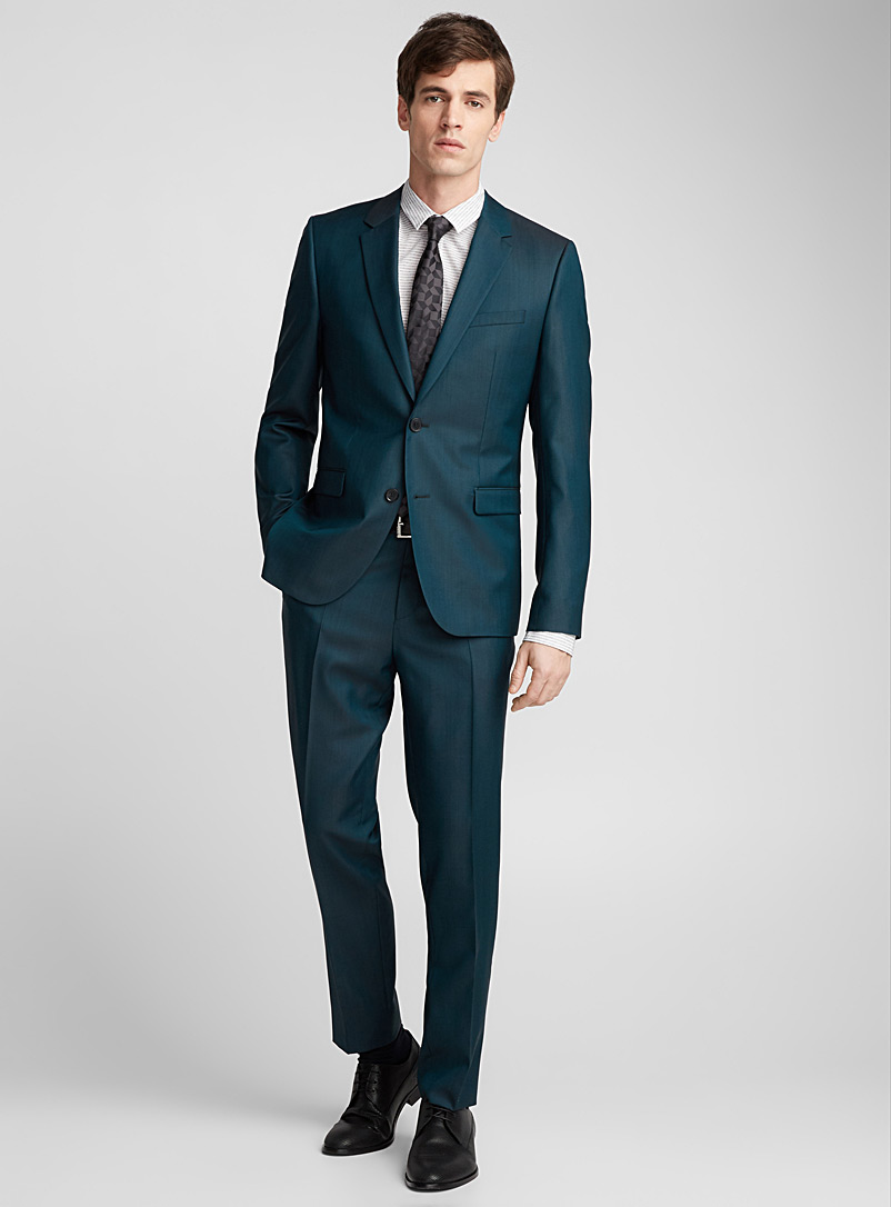 Teal Astian Hets suit  Extra slim fit - Hugo Boss - Green