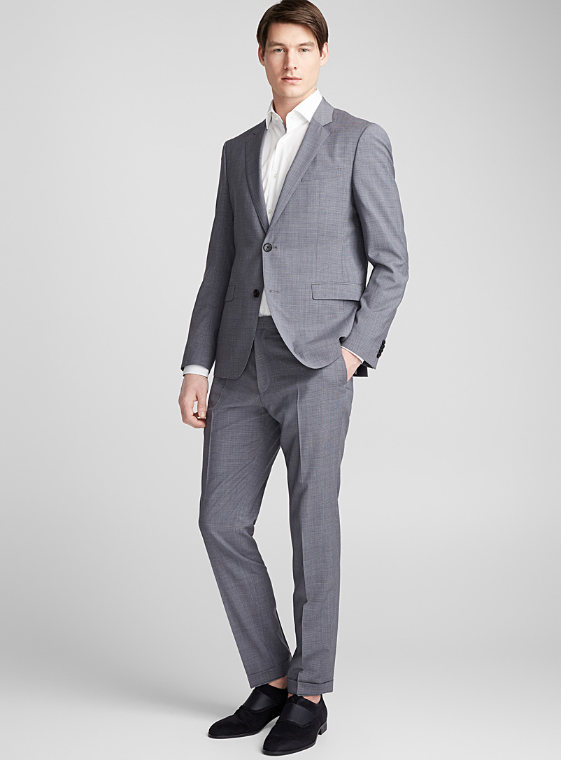 August Higgins small check suit - Hugo Boss - Grey