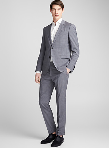 August Higgins small check suit