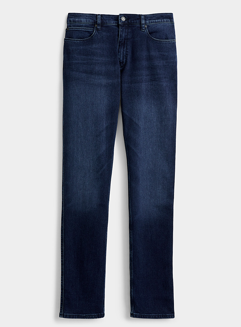 HUGO Blue Faded-blue jean for men