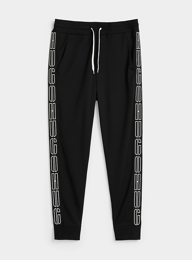 HUGO Black Trendy logo joggers for men