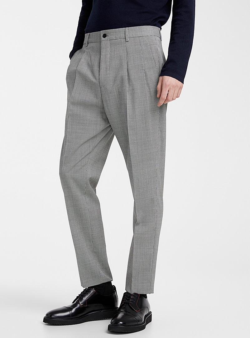 HUGO Grey Farlys houndstooth pant for men