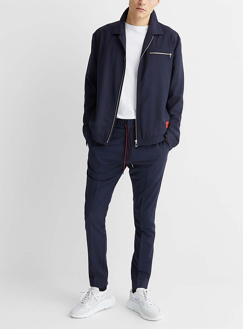 HUGO Marine Blue Urox workwear jacket for men