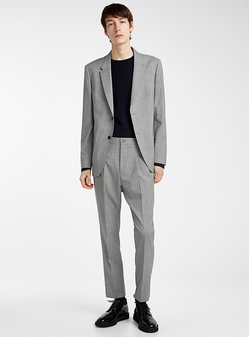 HUGO Grey Herman houndstooth jacket for men