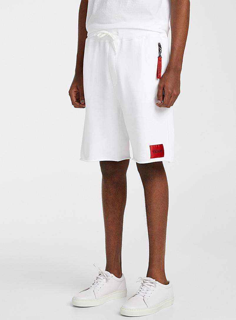 HUGO White Dactus short for men