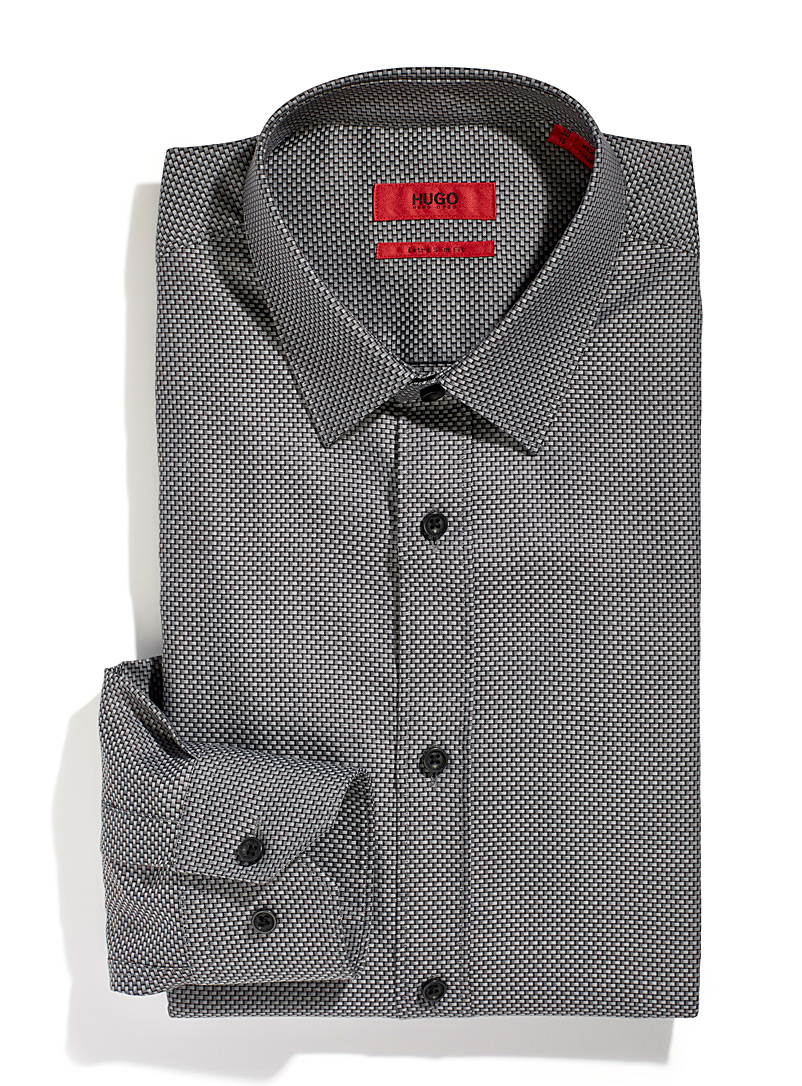HUGO Grey Elisha 2 shirt for men
