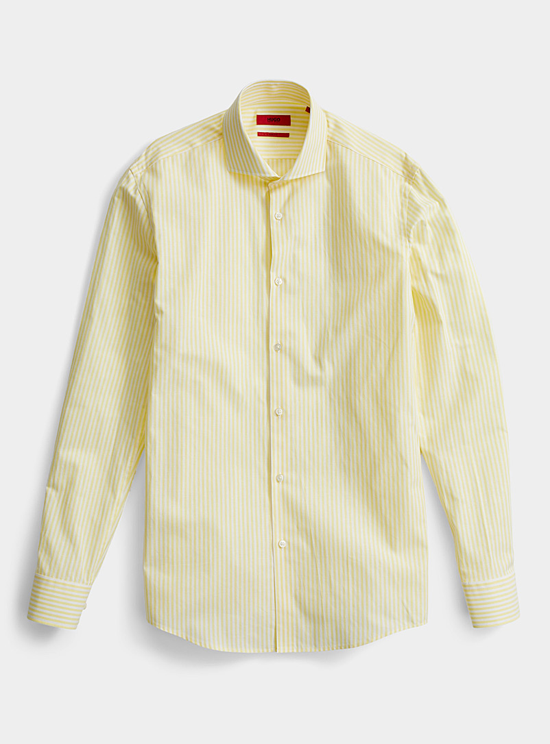 HUGO Golden Yellow Kason shirt for men
