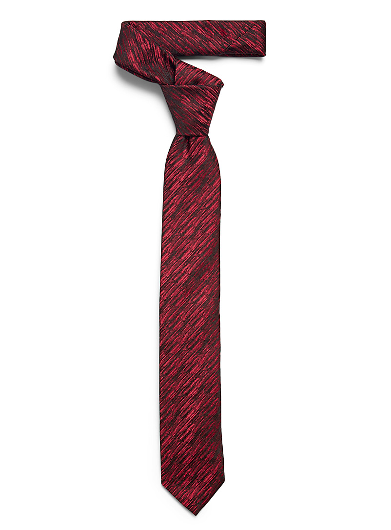 HUGO Red Digital chambray tie for men