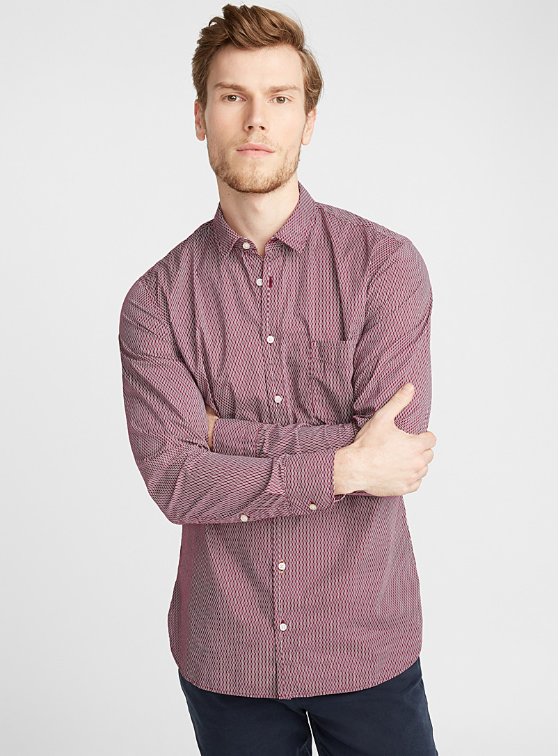 Retro burgundy shirt  Semi-tailored fit - Patterns - Red