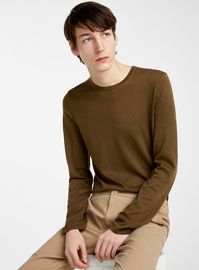 HUGO Medium Brown San Bastio sweater for men