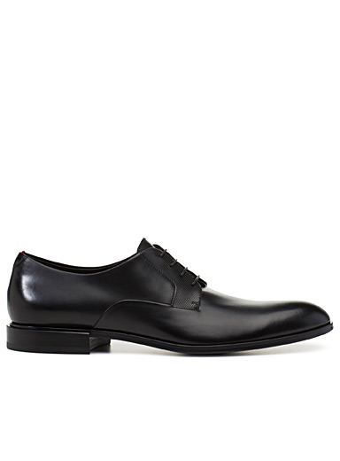 Embossed facing derby shoes  Men