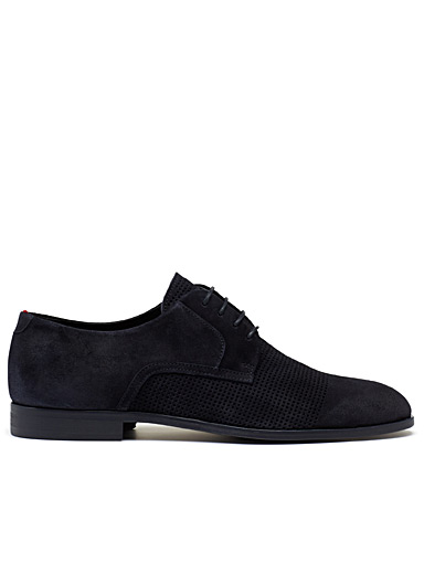 Perforated derby shoes