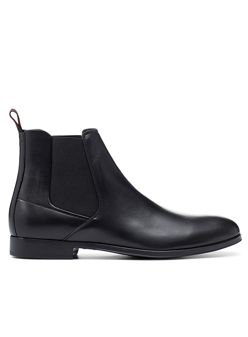 HUGO Black Boheme leather Chelsea boots for men