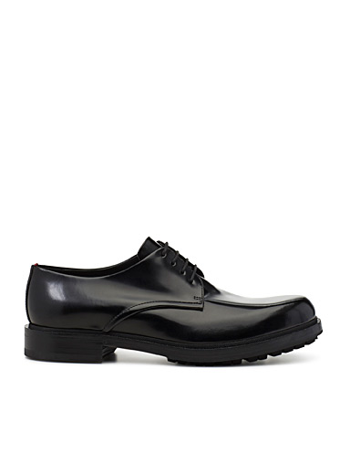 Grunge smooth leather derby  Men