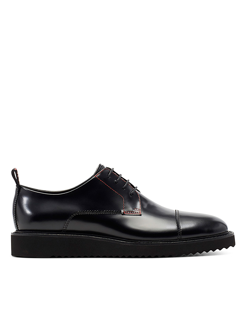 HUGO Black District Derby shoes for men