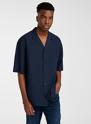 HUGO Dark Blue Elanzo shirt for men
