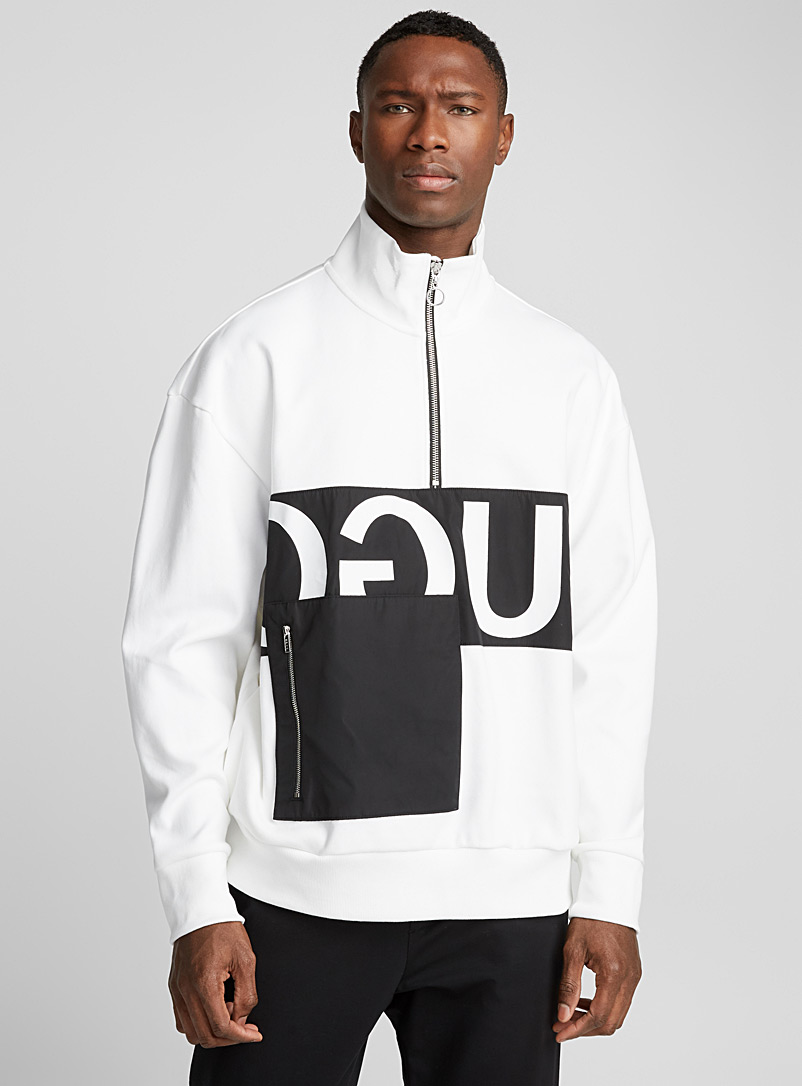 Darrius sweatshirt - Hugo Boss - White