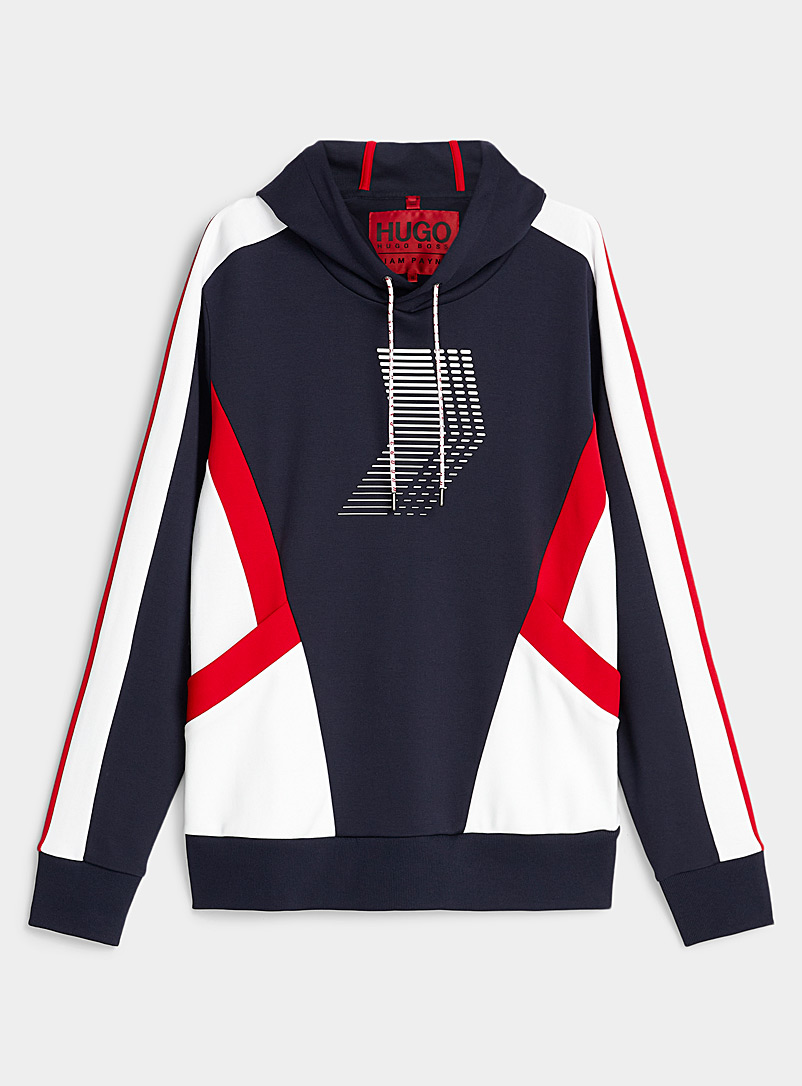 HUGO Dark Blue Chevron sweatshirt for men