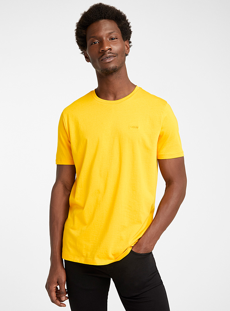 HUGO Orange Reversed logo T-shirt for men