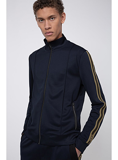 HUGO Dark Blue Damazing track jacket for men