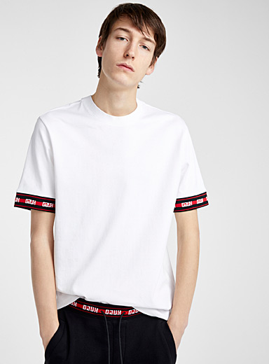 HUGO White Derra T-shirt for men