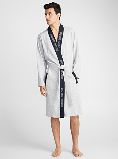 Signature trimmed robe