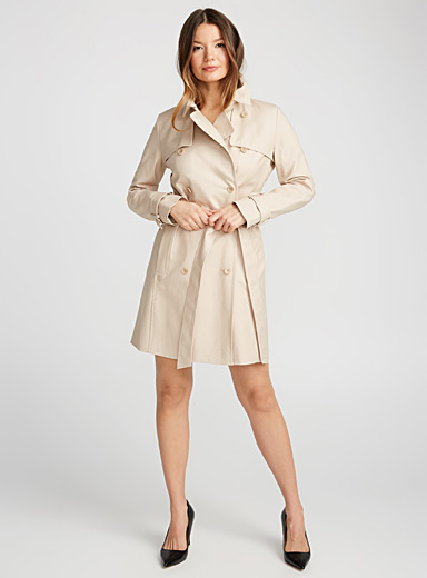 Makaras cotton trench coat
